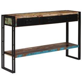 Mesa consola madera maciza reciclada 120x30x76 cm