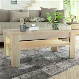 Mesa de centro de madera aglomerada 110x65x48 cm color roble