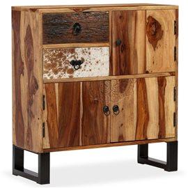Aparador de madera maciza de sheesham 70x30x80 cm