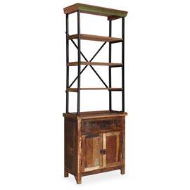 Aparador con estantes de madera maciza reciclada 65x30x180 cm