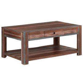 Mesa de centro de madera maciza vintage 88x50x38 cm