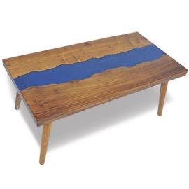 Mesa de centro teca y resina 100x50x40 cm