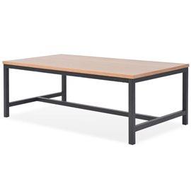 Mesa de centro de madera de fresno 100x55x36 cm