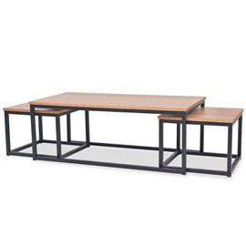 Juego de mesas de centro de madera de fresno 3 piezas