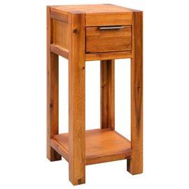 Mesa auxiliar de madera de acacia maciza 30x30x70 cm