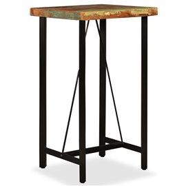 Mesa de bar de madera maciza reciclada 60x60x107 cm