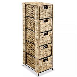Unidad de almacenaje con 5 cestas 25,5x37x10 cm jacinto de agua