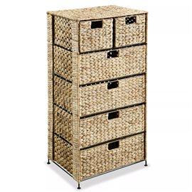 Unidad de almacenaje con 6 cestas47x37x100 cm jacinto de agua