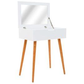 Tocador con espejo de MDF 60x40x75 cm