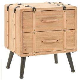Mesita de noche madera maciza de abeto 50x35x57 cm