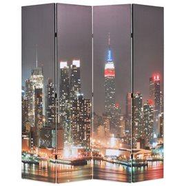 Biombo divisor plegable 160x170 cm Nueva York de noche