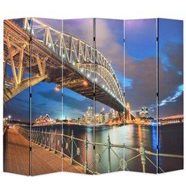Biombo divisor plegable 228x170 cm puente Harbour Sydney