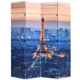 Biombo divisor plegable 160x170 cm París de noche