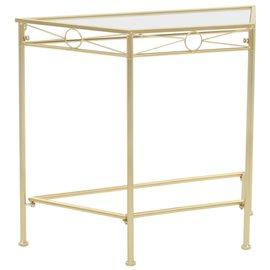 Mesa auxiliar de estilo vintage metal 87x34x73 cm dorada