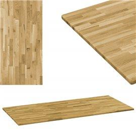 Tablero de mesa rectangular madera maciza roble 23mm 120x60 cm