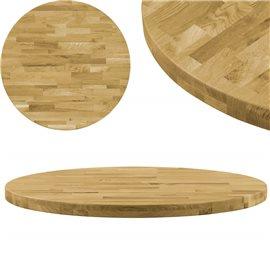 Superficie de mesa redonda madera maciza de roble 44 mm 900 mm