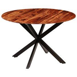 Mesa de comedor de madera maciza de sheesham 120x77 cm
