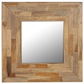 Espejo de madera de teca reciclada 50x50 cm