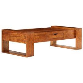 Mesa de centro de madera maciza de acacia 100x50x30cm marrón