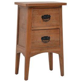 Mesita de noche madera maciza de abeto 40x29x68 cm marrón