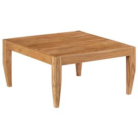 Mesa de centro de madera maciza de acacia 80x80x41 cm marrón