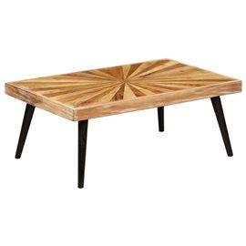 Mesa de centro de madera de mango maciza 90x55x36 cm