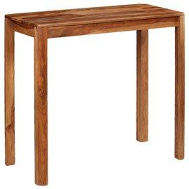 Mesa de bar de madera maciza de sheesham 115x55x107 cm