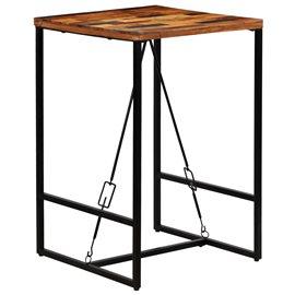 Mesa de bar madera maciza reciclada 70x70x106 cm