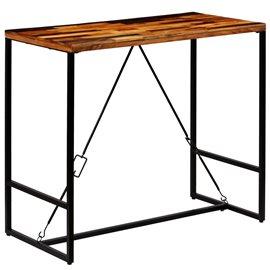 Mesa de bar de madera maciza reciclada 120x60x106 cm