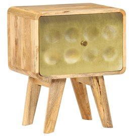 Mesita de noche de madera maciza de mango 40x30x49 cm