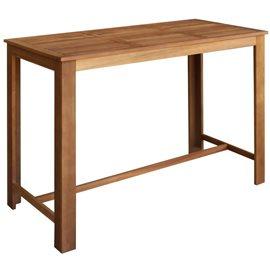 Mesa de bar de madera de acacia maciza 150x70x105 cm