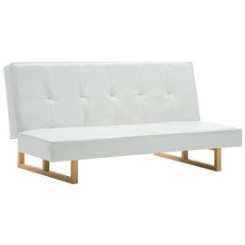 Sofá cama de cuero sintético blanco
