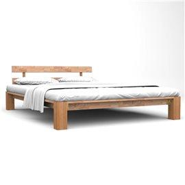 Estructura de cama de madera maciza de roble 160x200 cm
