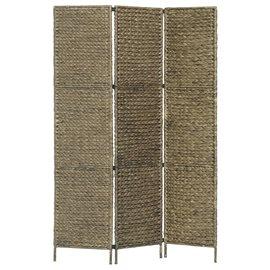 Biombo divisor 3 paneles jacinto de agua marrón 116x160 cm