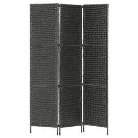 Biombo divisor 3 paneles jacinto de agua negro 116x160 cm