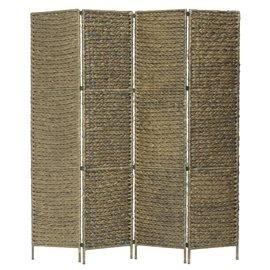 Biombo divisor 4 paneles jacinto de agua marrón 154x160 cm