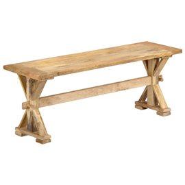 Banco de recibidor 120x35x45 cm madera maciza de mango