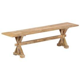 Banco de recibidor 160x35x45 cm madera maciza de mango