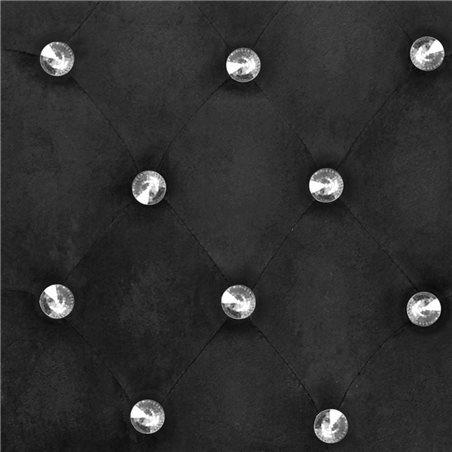 Sillas de comedor de roble macizo y terciopelo negro 4 unidades