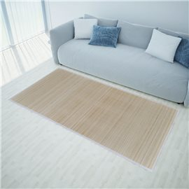 Alfombras rectangulares 4 unidades bambú natural 120x180 cm