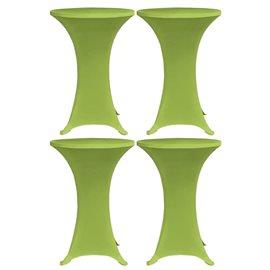 Funda elástica para mesa 4 unidades 70 cm verde