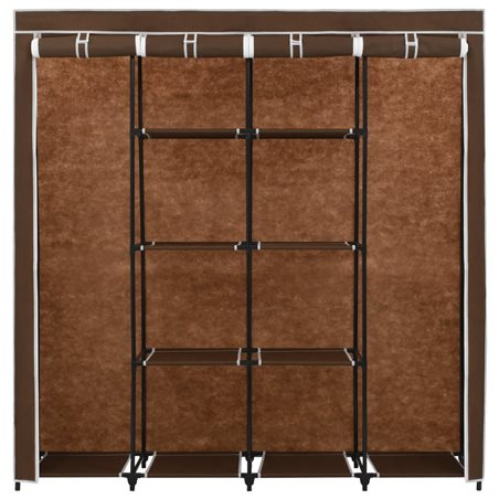 Armario con 4 compartimentos marrón 175x45x170 cm
