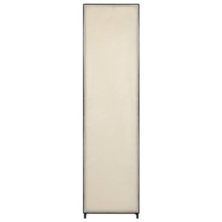 Armario con 4 compartimentos color crema 175x45x170 cm