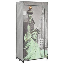 Armario de tela New York 75x45x160 cm