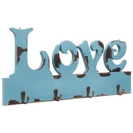 Perchero de pared LOVE 50x23 cm