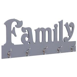 Perchero de pared FAMILY gris 74x29,5 cm
