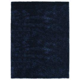Alfombra de pelo azul 140x200 cm