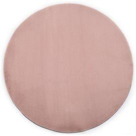 Alfombra de pelo sintético de conejo rosa envejecido 160 cm