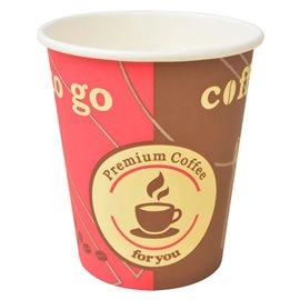 Vasos desechables para café 1000 unidades papel 240 ml 8 oz