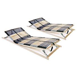 Somieres de cama 2 uds con 42 láminas 7 zonas FSC 90x200 cm
